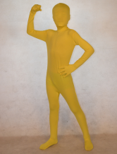 Anime Costumes AF-S2-308810 Halloween Cool Yellow Unisex Lycra Spandex Fashion Unicolor Zentai Suits