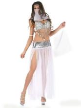 Anime Costumes AF-S2-312494 Halloween Glitter White Chiffon Women's Sexy Fantasy Costume