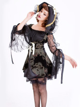 Anime Costumes AF-S2-312438 Halloween Sexy Black Lace Polyester Women's Adult Pirate Costume