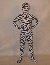 Anime Costumes AF-S2-313996 Halloween Multi Color Unisex Zebra Print Lycra Spandex Special Lycra Kid's Zentai