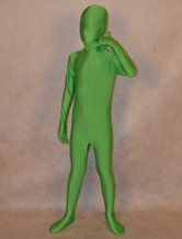 Anime Costumes AF-S2-313954 Halloween Green Unisex Lycra Spandex Fashion Unicolor Zentai Suits For Kids