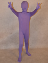 Anime Costumes AF-S2-313938 Halloween Lavender Zentai Suit Lycra Spandex Full bodysuit for Kids