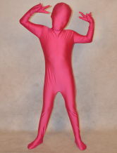 Anime Costumes AF-S2-313912 Halloween Fuchsia Unisex Lycra Spandex Cool Unicolor Zentai Suits For Kids