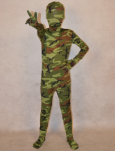 Anime Costumes AF-S2-314004 Camouflage Lycra Spandex Full Body Unisex Kid's Halloween Fashion Zentai