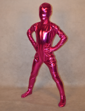 Anime Costumes AF-S2-314008 Fuchsia Shiny Metalic Full Body Unisex Kid's Halloween Zentai