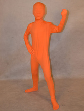 Anime Costumes AF-S2-313944 Halloween Orange Unisex Lycra Spandex Fashion Unicolor Zentai Suits For Kids