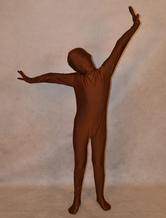 Anime Costumes AF-S2-313946 Halloween Dark Brown Zentai Suit for Kid Unisex Lycra Spandex Full Bodysuit