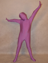 Anime Costumes AF-S2-313942 Halloween Purple Unisex Lycra Spandex Unicolor Zentai Suits For Kids