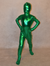 Anime Costumes AF-S2-313984 Halloween Green Shiny Metalic Full Body Unisex Kid's Fashion Unicolor Zentai