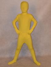 Carnevale Zentai per bambini completo lycra spandex giallo unisex Halloween