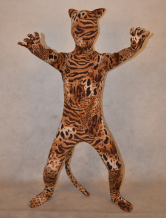 Anime Costumes AF-S2-314006 Halloween Multi Color Unisex Tiger Print Lycra Spandex Stylish Kid's Zentai Suits