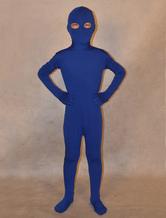 Anime Costumes AF-S2-313978 Halloween Deep Blue Unisex Lycra Spandex Unicolor Kid's Zentai Suits
