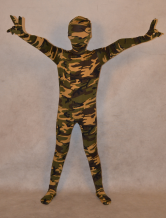 Anime Costumes AF-S2-313990 Cool Camouflage Lycra Spandex Full Body Unisex Kid's Halloween Zentai Suits