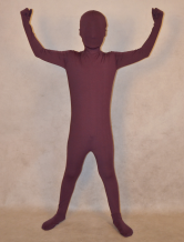 Anime Costumes AF-S2-313908 Halloween Burgundy Unisex Zentai Suit for Kid Lycra Spandex Full Bodysuit