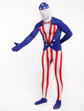 Anime Costumes AF-S2-315854 Halloween Fourth of July Flag Zentai Suit Lycra Spandex Full Bodsuit