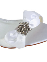 5ee22de8b0373 ... Bow Rhinestone Wedge Heel Open Toe Silk And Satin Special Occasion  Shoes-No.6