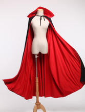 Red Spandex Vampire Zentai Poncho Cape For Halloween