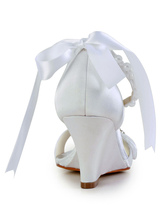 57e438d8c422a ... Bow Rhinestone Wedge Heel Open Toe Silk And Satin Special Occasion  Shoes-No.5 ...