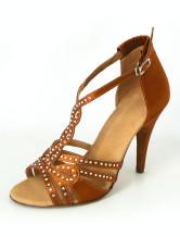Bellissime Peep Toe tacco a spillo raso scarpe professionale latino