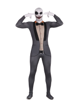 Anime Costumes AF-S2-342648 Skeleton Zentai Suit Spandex Gray Monster Halloween Costume