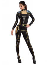 Anime Costumes AF-S2-343608 Halloween Sexy Latex Catsuit Black Ninja Bodysuit