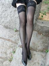 Calze di pizzo nero in Nylon attraente femminile