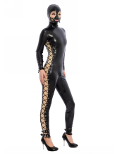 Anime Costumes AF-S2-343628 Halloween Black Open Eyes Unisex Latex Bodysuit