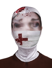 Anime Costumes AF-S2-342670 Halloween Multi Color Blood Nurse Unisex Lycra Spandex Cosplay Hoods