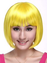 Anime Costumes AF-S2-342854 Blonde Kanekalon Straight Short Halloween wig