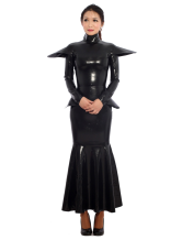 Anime Costumes AF-S2-343594 Halloween Black Unisex Tunic Unique Latex Dress