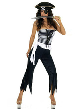 Anime Costumes AF-S2-347322 Black Halloween Stylish Women's Adult Pirate Costume
