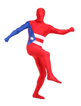 Anime Costumes AF-S2-348894 Halloween Unisex Lycra Spandex Cuba Full Body Fabulous Flag Zentai Suits