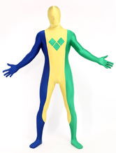 Anime Costumes AF-S2-348906 Halloween Multi Color Unisex Saint Vincent and the Grenadines Lycra Spandex Full Body Fashion Flag Zentai Suits