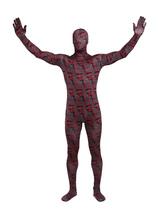 Tijolo vermelho Lycra Spandex Unisex geométrico completo corpo legal Multicolor Zentai ternos  Halloween