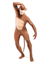 Anime Costumes AF-S2-348844 Light Brown Monkey Zentai Suit Halloween Animal Full Bodysuit
