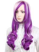 Anime Costumes AF-S2-349240 Multi Color Synthetic Curly Women's Long Halloween wig