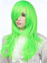 Anime Costumes AF-S2-349286 Fashion Green Straight Cosplay Synthetic Women's Medium Halloween wig