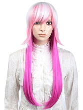 Anime Costumes AF-S2-349292 Special Pink Straight Synthetic Cosplay Fashion Long Halloween wig