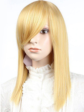 Anime Costumes AF-S2-349216 Gorgeous Gold Medium Straight Synthetic Medium Halloween wig For Woman
