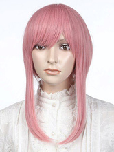 Anime Costumes AF-S2-349222 Chic Pink Medium Straight Synthetic Women's Medium Halloween wig