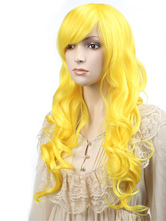 Anime Costumes AF-S2-349232 Blonde Synthetic Curly Woman's Long Halloween wig