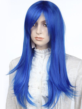 Anime Costumes AF-S2-349226 Special Blue Straight Synthetic Classic Chic Long Halloween wig