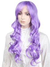 Anime Costumes AF-S2-349234 Cute Purple Curly Synthetic Classic Woman's Long Halloween wig