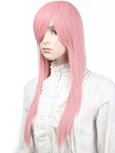 Anime Costumes AF-S2-349254 Pink Straight Synthetic Exotic Woman's Long Halloween wig