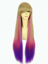 Anime Costumes AF-S2-349096 Exotic Multi Color Synthetic Straight Women's Long Halloween wig