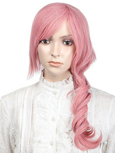 Anime Costumes AF-S2-349198 Pink Medium Curly Synthetic Sweet Women's Medium Halloween wig