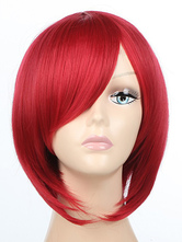 Anime Costumes AF-S2-349200 Cute Red Synthetic Straight Attractive Woman's Medium Halloween wig