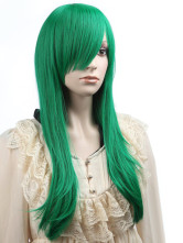 Anime Costumes AF-S2-349228 Stylish Green Straight Synthetic Classic Long Halloween wig For Woman