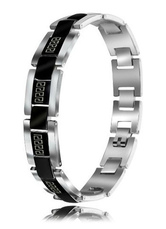 Stylish Black Box Clasp Stainless Steel Men's Bracelet