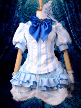 Anime Costumes AF-S2-355428 Vocaloid Megurine Luka Halloween Cosplay Costume White Lolita Suit